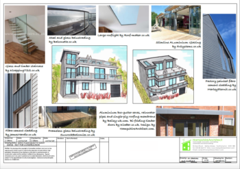Hampshire Architect Artist's Impression of Extension and Remodelling Project of 1930's Seafront House