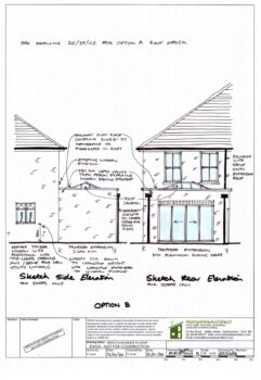 Hampshire Architect Sketch Black & White Elevations