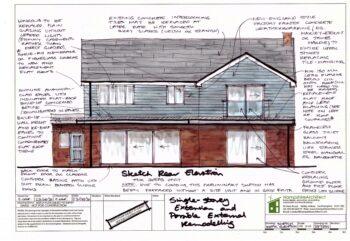 Hampshire Architect Sketch Colour Elevation