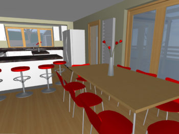 Hampshire Architect, Extensions and Internal Remodelling, Netley Abbey (Dining Room Visualisation)